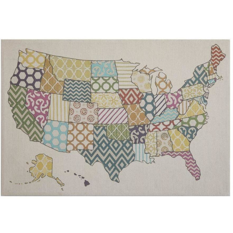 Canvas Print Usa Map Wall Decor