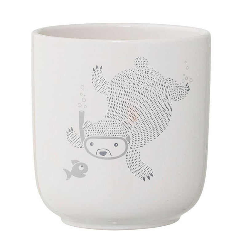 Ceramic Circus Flower Pot With Bear - Decor