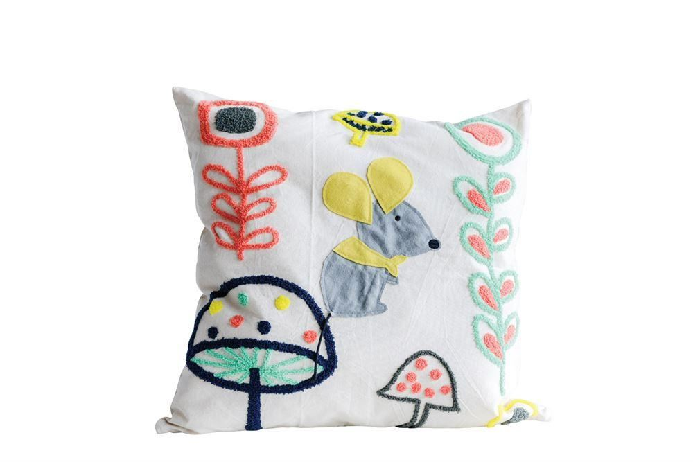 Colorful Cotton Pillow With Mouse