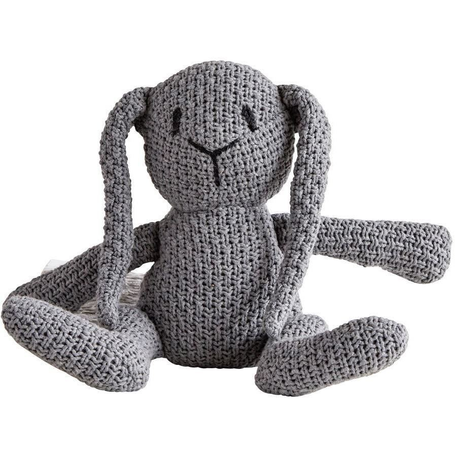 Cotton Knit Grey Rabbit Plush