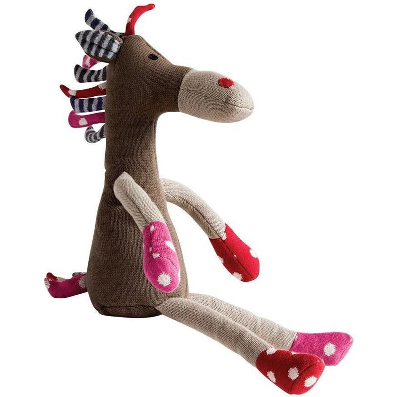 Cotton Knit Multicolored Horse Plush