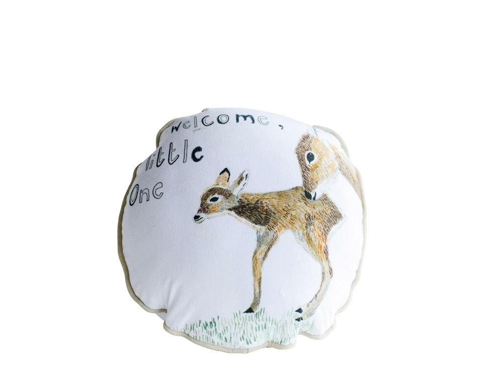 Cotton Pillow With Deer