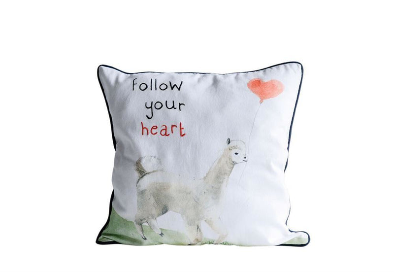 Cotton Pillow With Llama