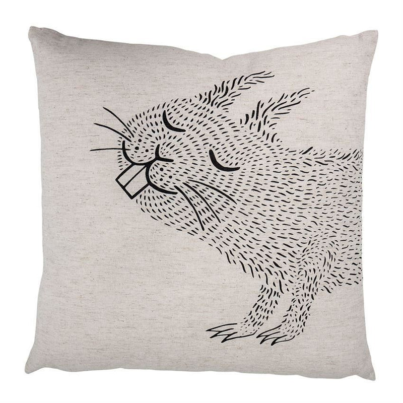 Cotton Pillow With Squirrel