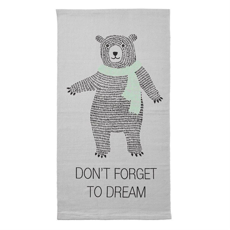 Cotton Rug With Big Bear