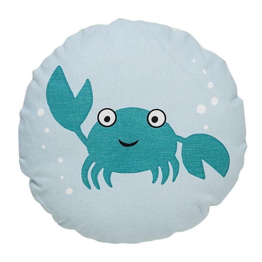 Crab Pillow In Blue