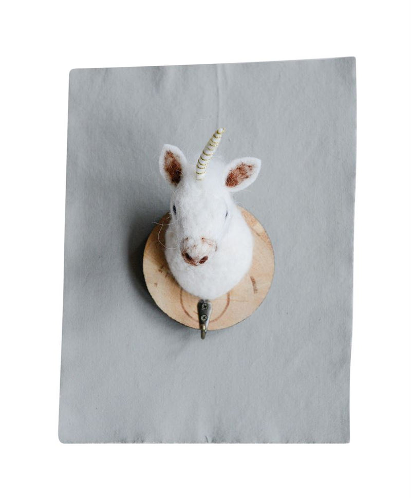Wool Felt Unicorn Wall Hook