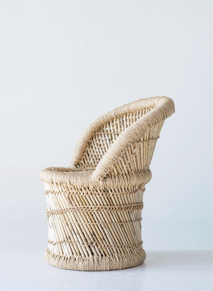 Natural Bamboo & Rope Chair