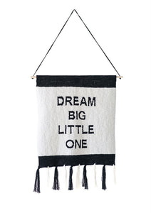 """Dream Big Little One"" Cotton Knit Wall Decor"