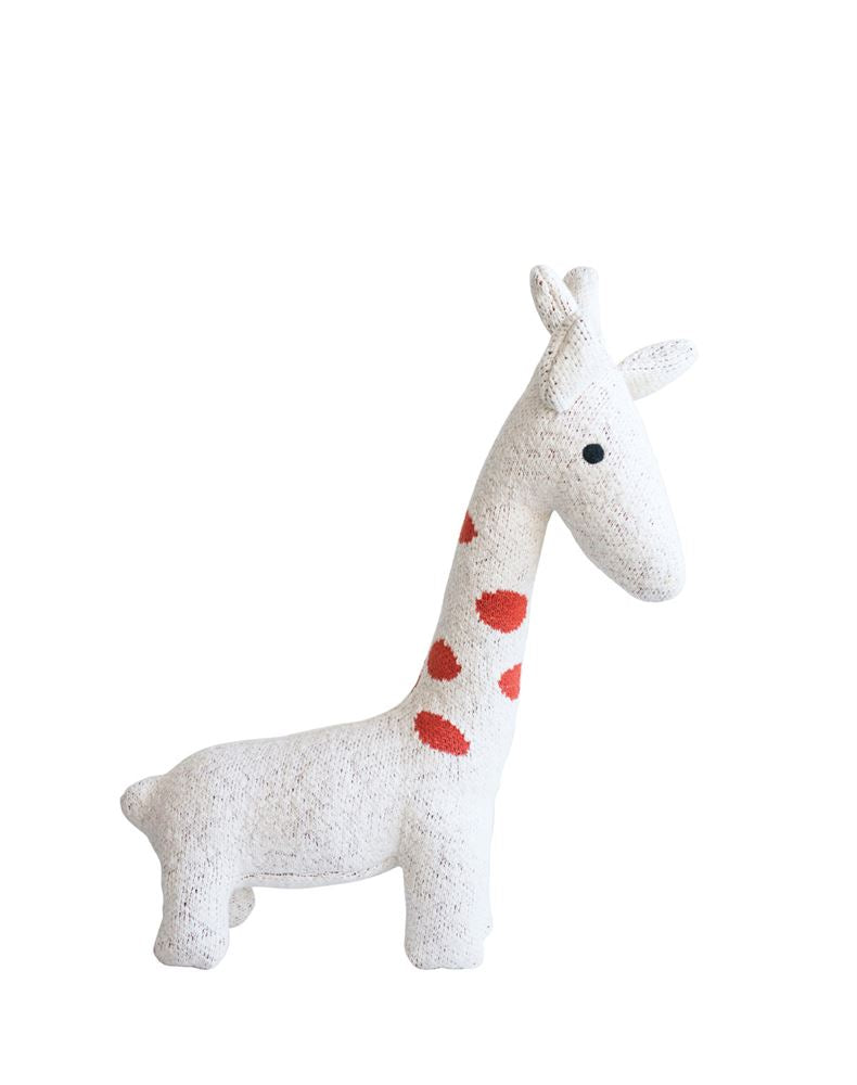 Cotton Giraffe Knit Plush Toy in Cream