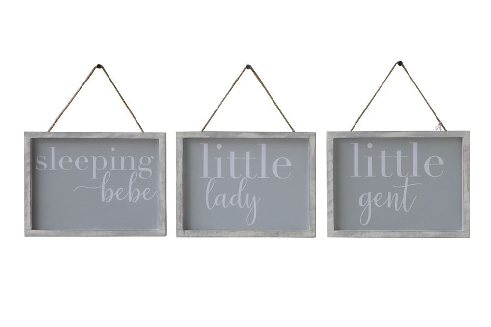 Set of Three Wood Framed Sayings Wall Decor