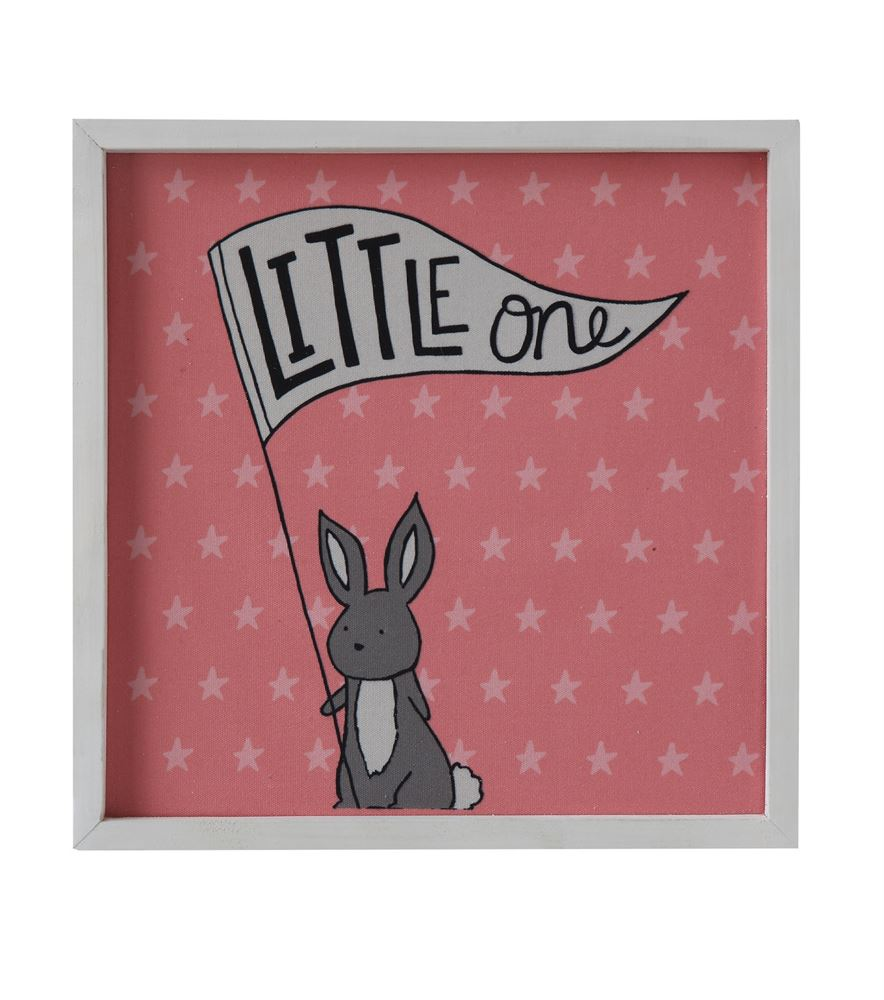 "Natural Wood Framed ""Little One"" Wall Decor"