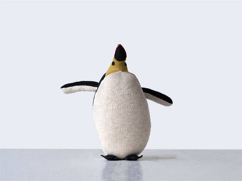 Cotton Multicolored Penguin Knit Plush Toy