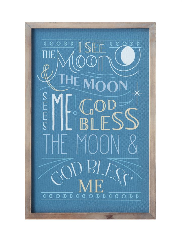 "Wood Framed Wall Decor ""I See The Moon..."""
