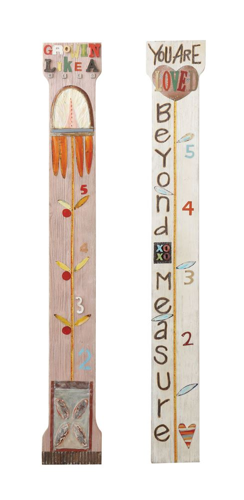 "Wood ""Growing like a..."" Growth Chart Ruler Wall Decor"