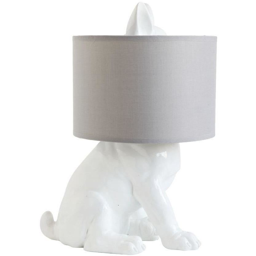 Dog Table Lamp With Linen Shade - Lighting