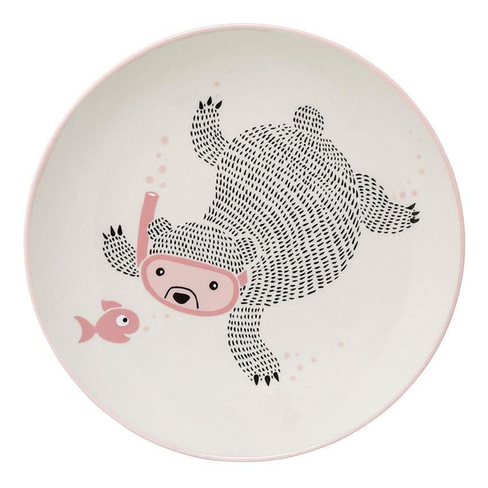 Ellie Plate In Rose - Plates
