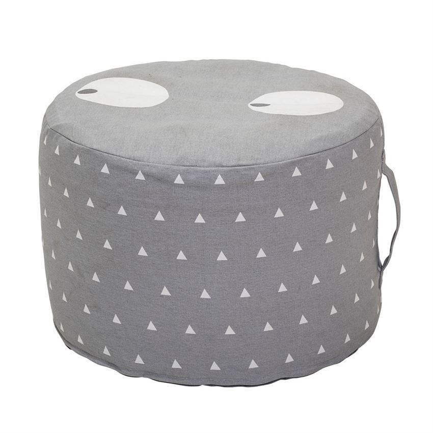 Grey Cotton Pouf - Decor