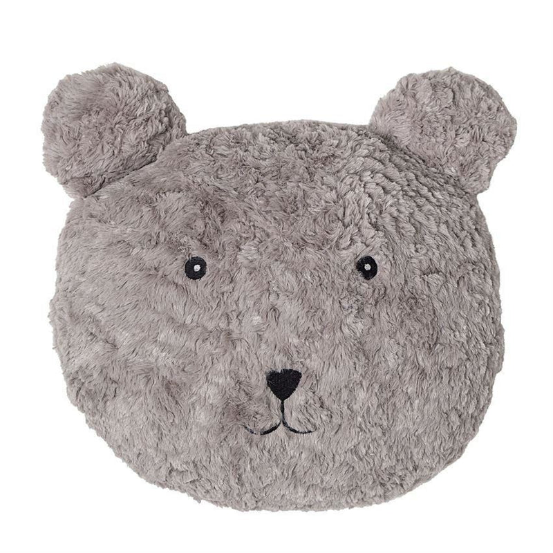 Grey Fabric Bear Pillow