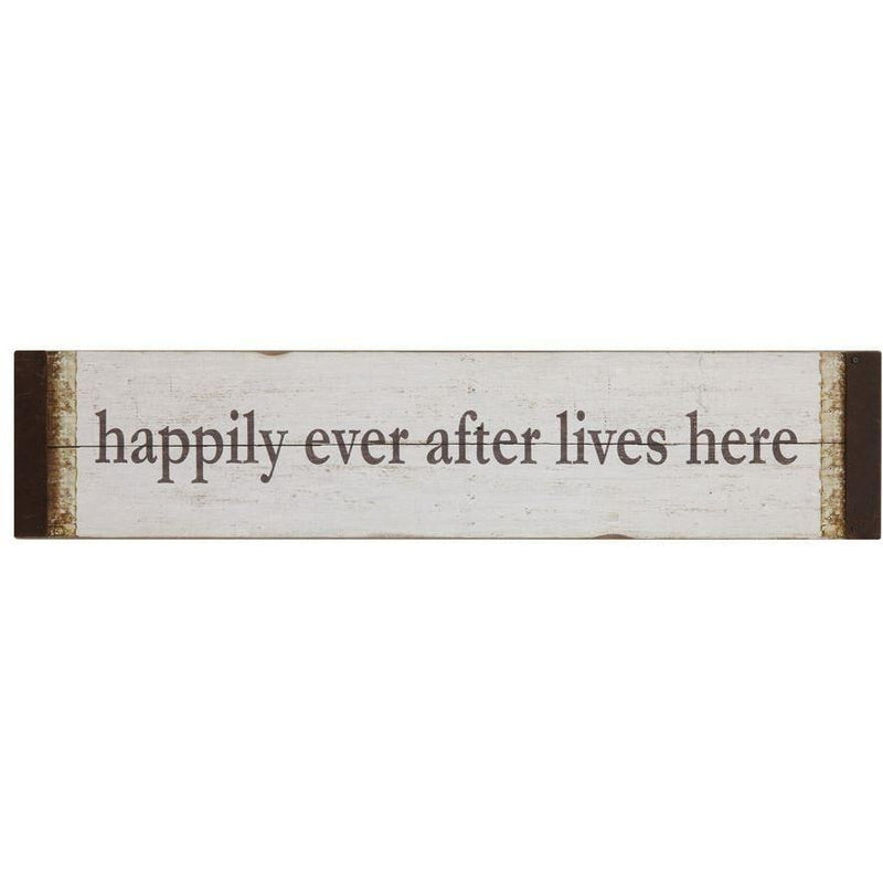 Happily Ever After Lives Here Wall Decor