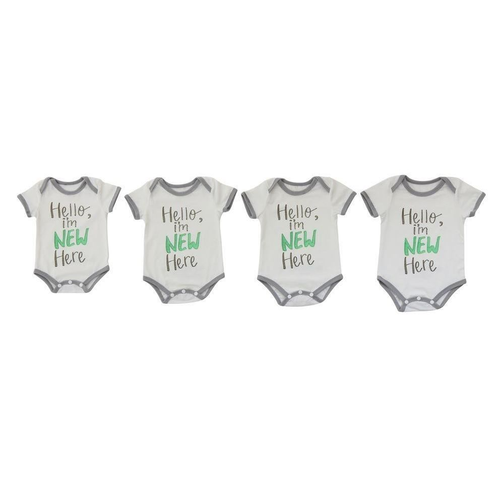 Hello Im New Here Baby Onesies - Clothing