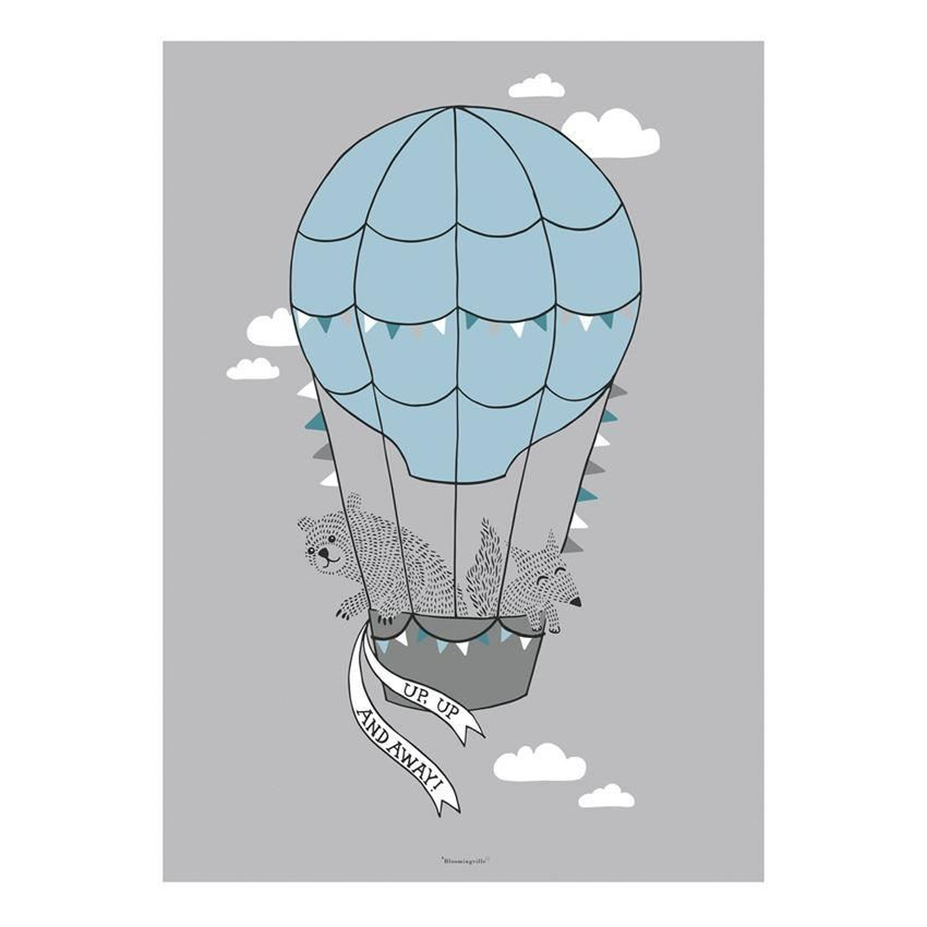 Hot Air Balloon Poster - Wall Decor