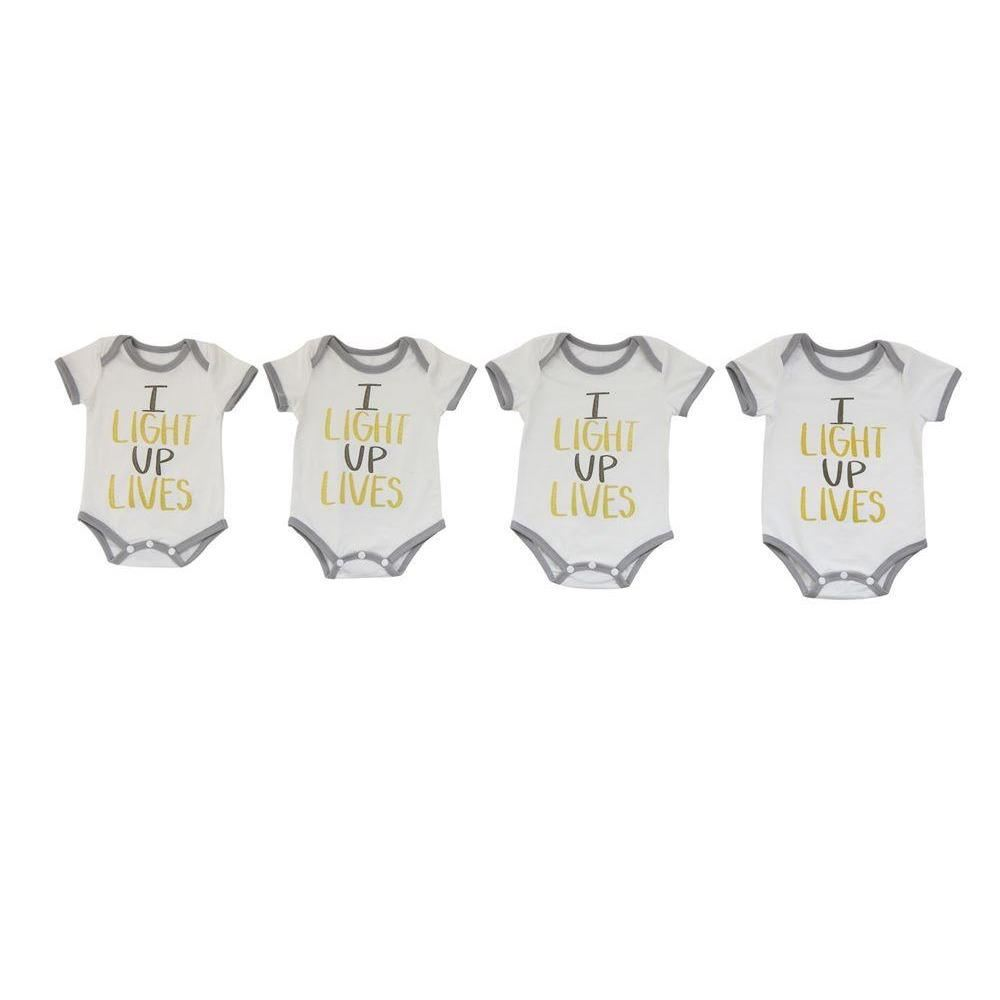 I Light Up Lives Baby Onesies - Clothing