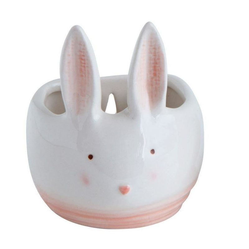 Large Rabbit Shaped Ceramic Wall Planter - Decor