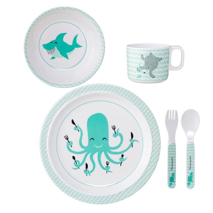 Melamine Axel Serving Set In Gift Box - Plates