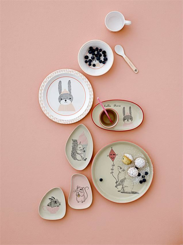 Melamine Sophia Plate With Bunny - Plates