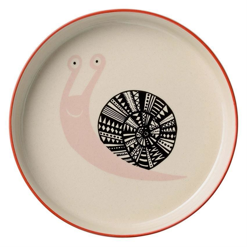 Mollie Low Bowl With Snail - Plates