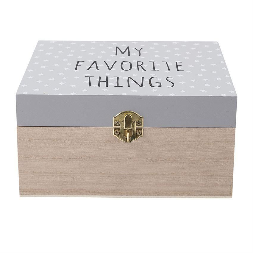 My Favorite Things Wood Box - Decor