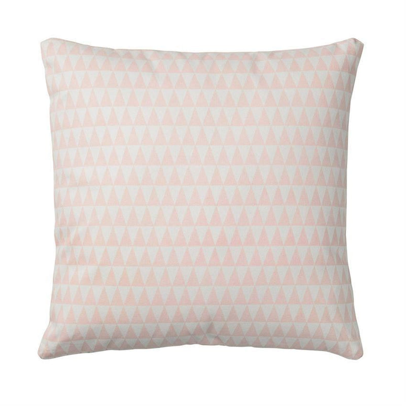 Nude Cotton Pillow With Triangles - Pillow