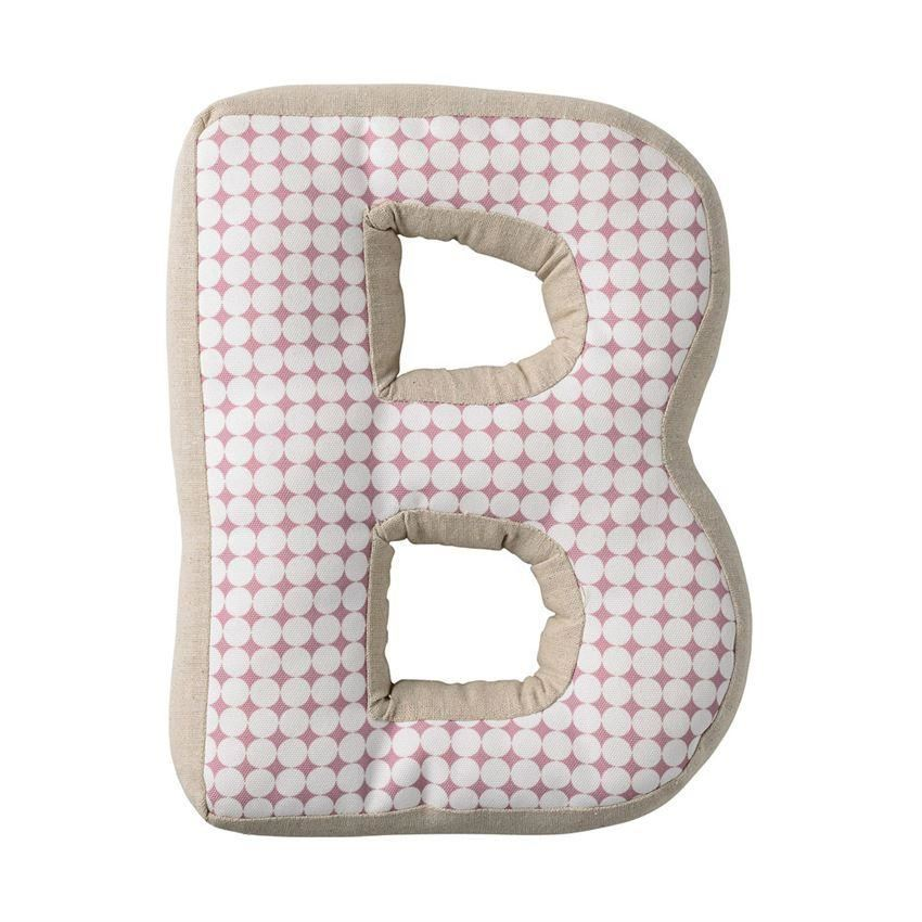 Nude Patterned Cotton B Pillow - Pillow