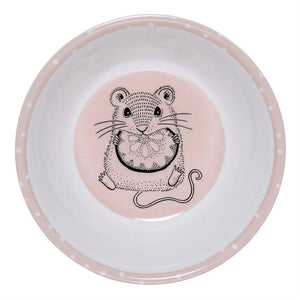 Powder And White Melamine Bowl With Mouse - Bowl