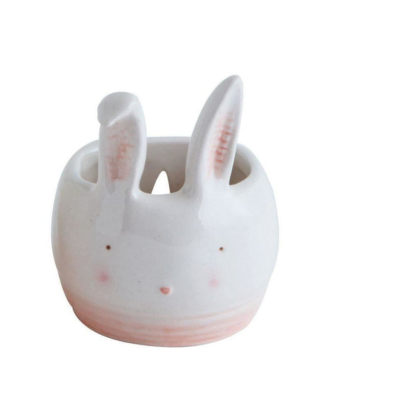 Rabbit Shaped Ceramic Wall Planter - Decor