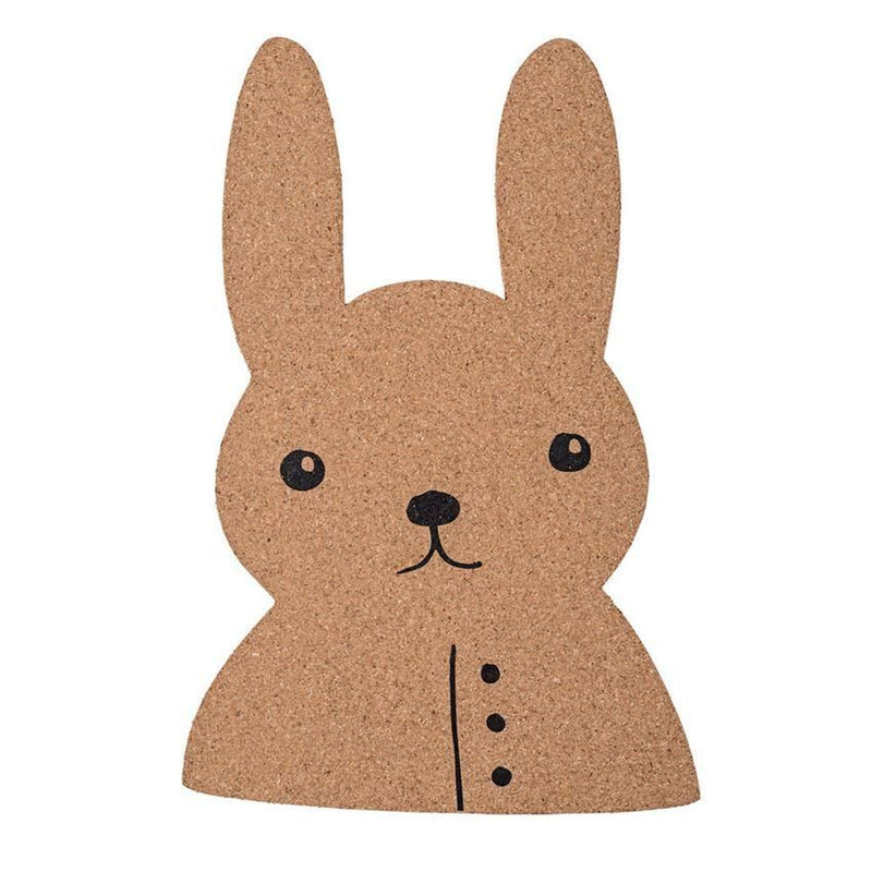 Rabbit Shaped Cork Board - Wall Decor