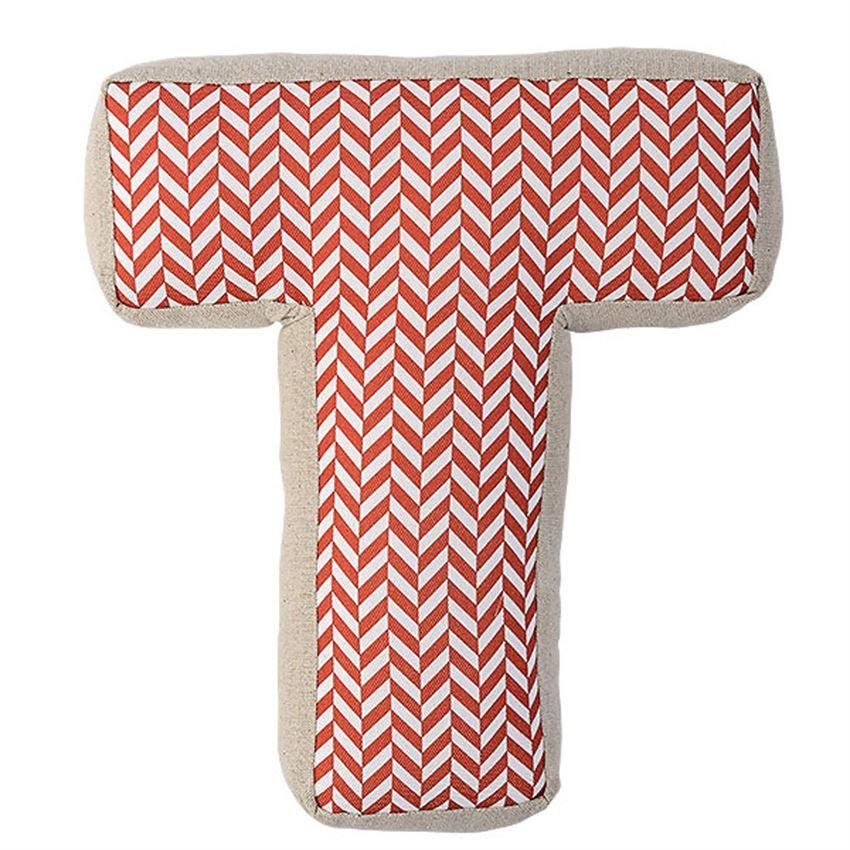 Red Patterned Cotton T Pillow - Pillow