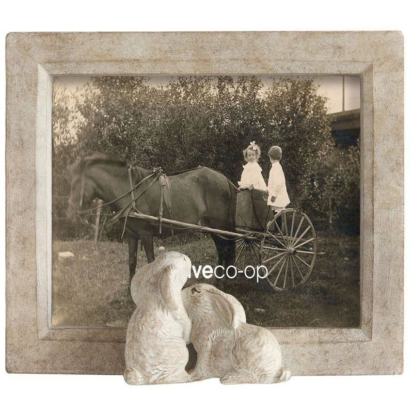 Resin Framed Photo Frame With Rabbits - Decor