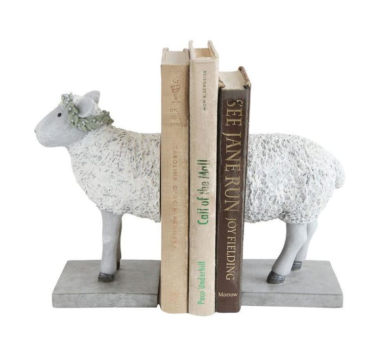 Resin Sheep Bookends - Decor