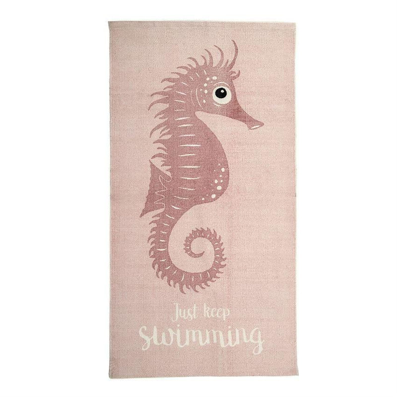 Rug With Rose Seahorse