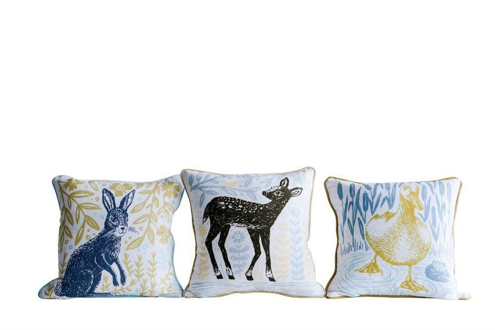 Set Of Cotton Pillows With Animals - Pillow
