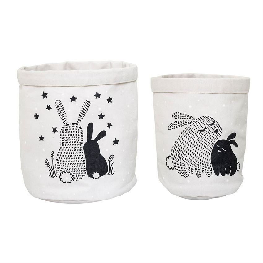 Set Of Storage Baskets With Bunnies - Decor