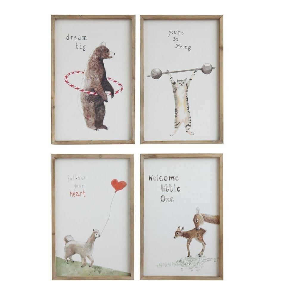 Set Of Wood Framed Saying Wall Decor