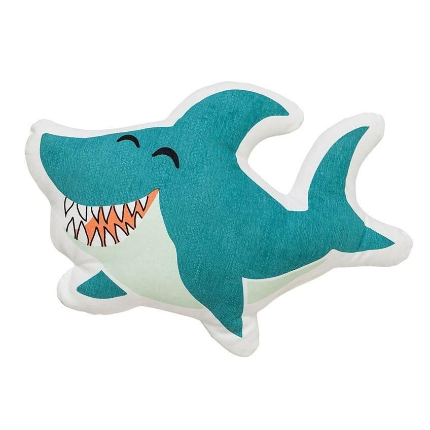 Shark Pillow In Blue