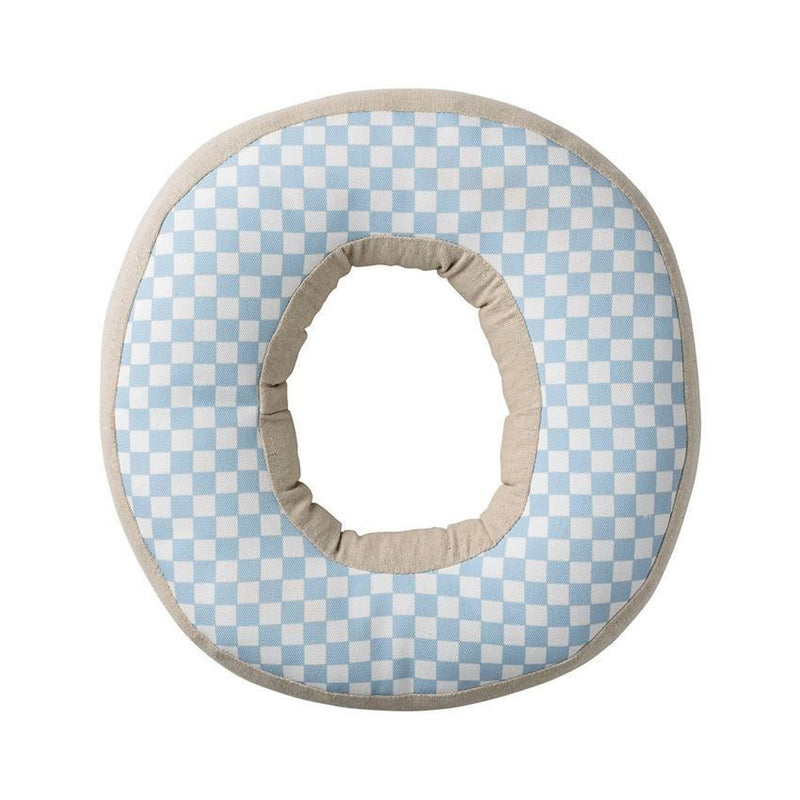 Sky Blue Patterned Cotton O Pillow - Pillow
