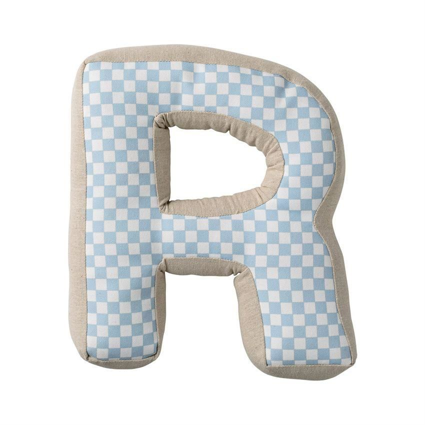 Sky Blue Patterned Cotton R Pillow - Pillow