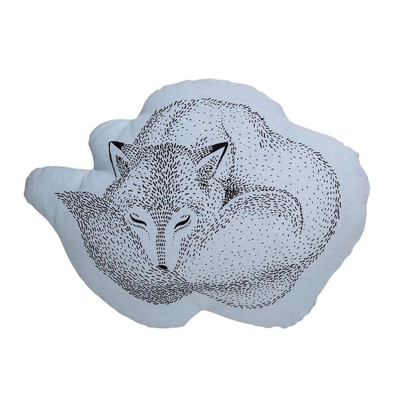 Sky Blue Sleeping Fox Pillow