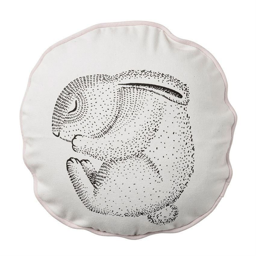 Sleeping Rabbit Pillow With Nude Trim