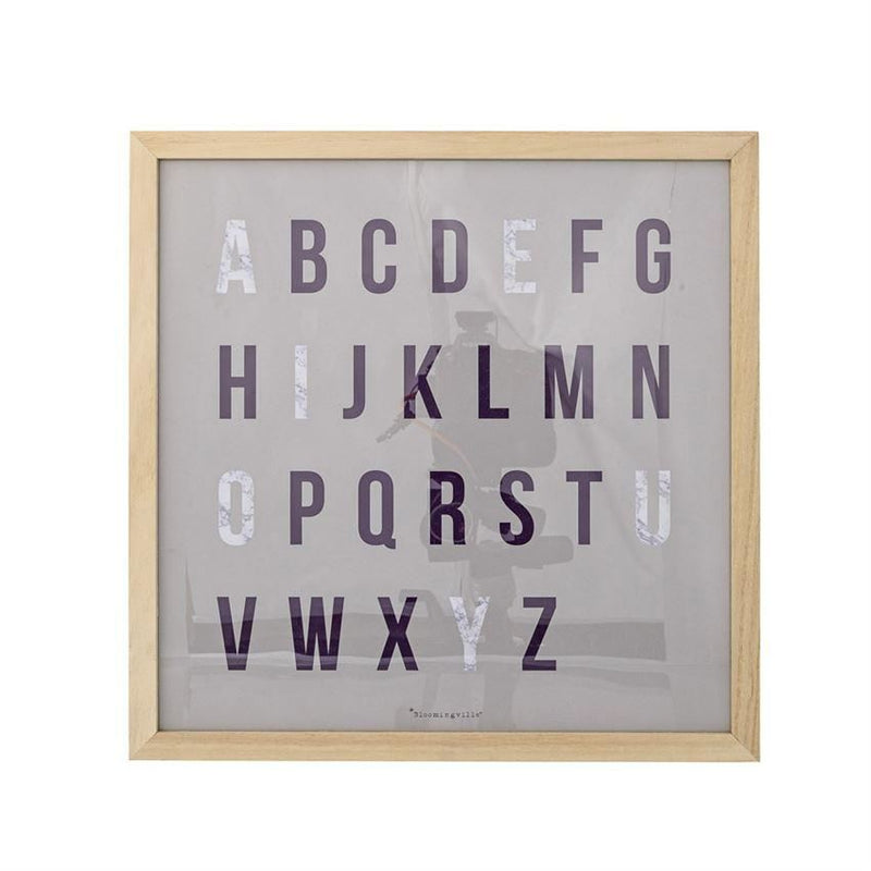 Square Wood Framed Alphabet Wall Decor